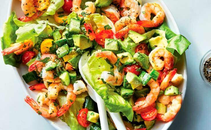 Салат из креветок и авокадо - очень вкусный рецепт