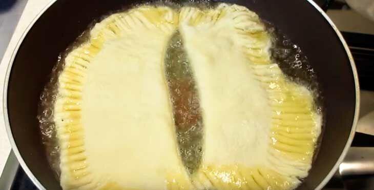 чебуреки на кефире с фаршем