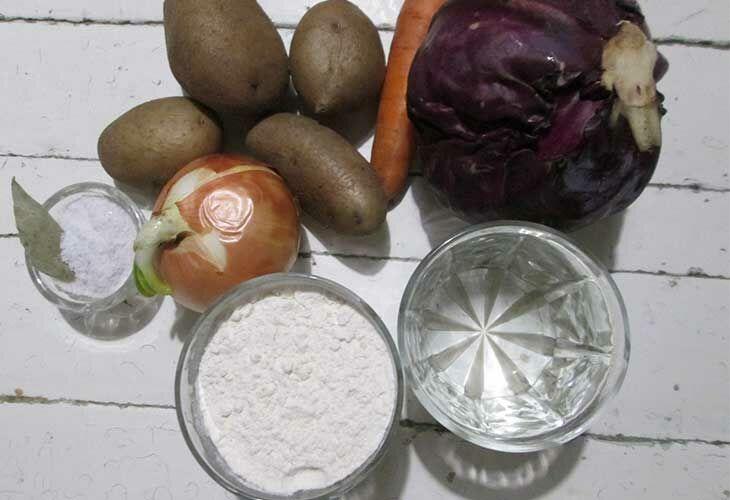 Ингредиенты вареников