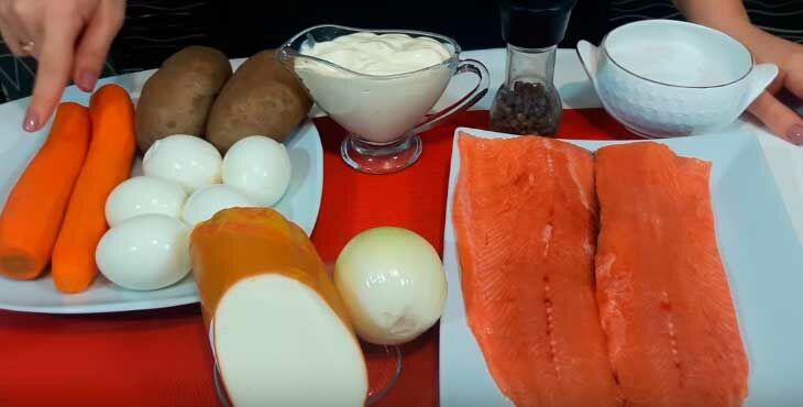 Как вкусно приготовить салат мимоза с горбушей