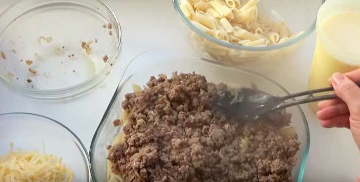 Запеканка из макаронов и яиц