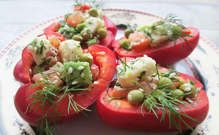 Салат на пасху c авокадо