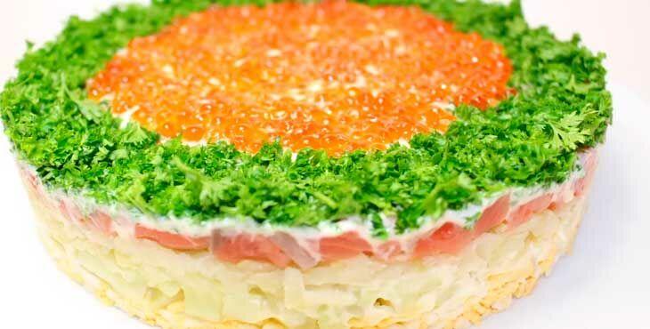 Праздничный салат на Пасху с семой