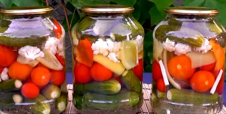 Заготовки салатов на зиму без стерилизации