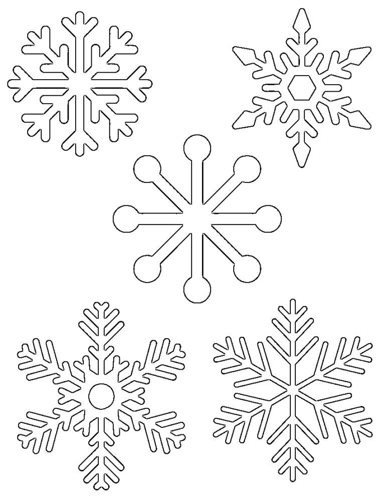 делали картинки новогодних снежинок для вырезания был