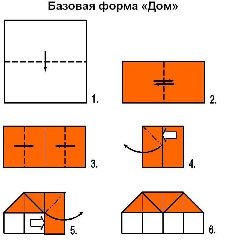 Картинки домик оригами