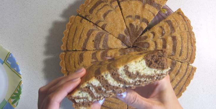 Зебра пирог: 7 популярных рецептов
