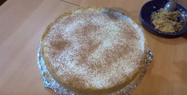 Непеченый торт из печенья