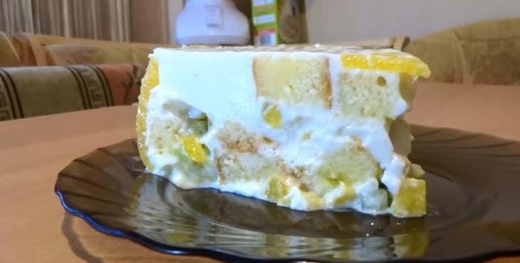 Пирожное из бисквитных коржей